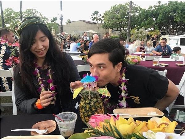 Matt Stonie with Girlfriend Mei